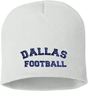 Go All Out Adult City Of Dallas Texas Football Embroidered Knit Beanie Cap