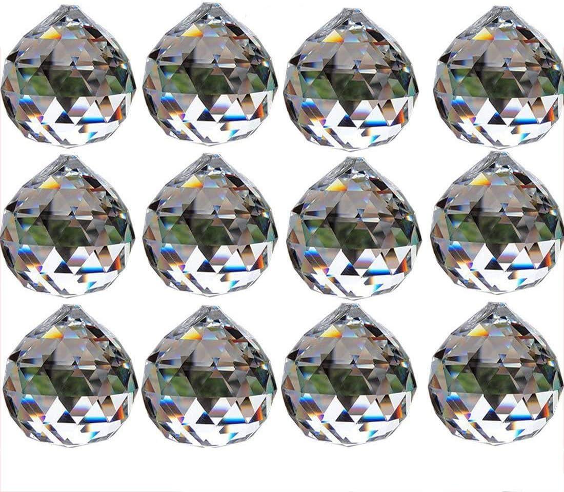 **** ONE VINTAGE EUROPEAN 40 mm OCTAGON CRYSTAL GLASS JEWEL PRISM ****