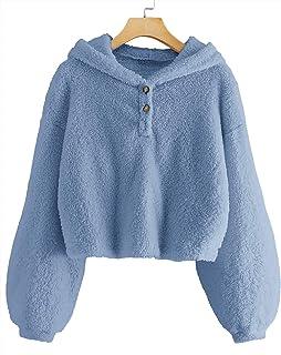 Ybenlover - Sudadera con capucha para niños y niñas, con botones sueltos