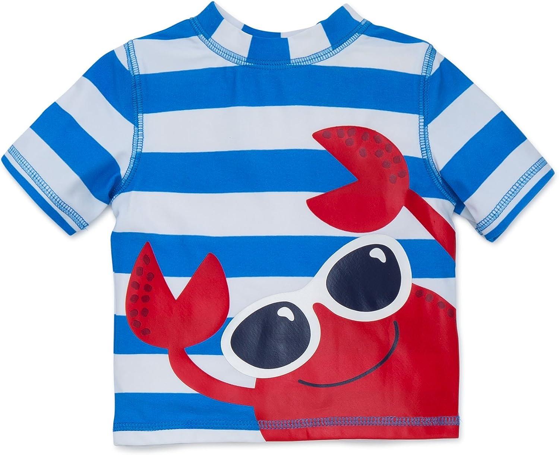 Little Me Max 63% quality assurance OFF Boys' Swim Sleeve Short Rashguard