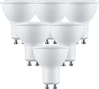 LumCa Pack de 6 bombillas LED GU10, 5 W, luz diurna, equivalente a 38 W, PAR16, 6000 Kelvin, 460 lúmenes, no regulable, 220 – 240 V, ángulo de haz de 100°, bombilla LED GU10, bombilla LED GU10