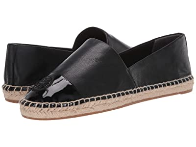 Tory Burch Color Block Flat Espadrille (Perfect Black/Perfect Black) Women