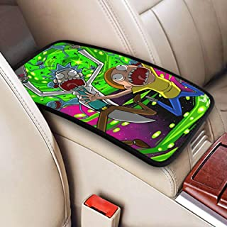 Rick And Morty (1) Car Center Console Box Arm Rest Decoration Pads Cushion Console Cover Universal Fit Armrest Protector Pads