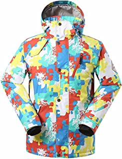 GSOU Snow 2018 Men's Winter Nordic Style Mountain Waterproof Attractive Pattern Insulated Ski Jacket for Any Winter Sports