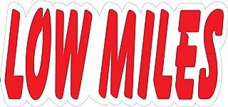 Ez-line Vinyl Number Slogans for Car Lots 2 Dozen Large Windshield Decal Stickers Dealership Numbers (Low Miles)