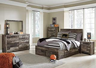 Amazing Buys Derekson Bedroom Set by Ashley Furniture - Includes, King Bed Dresser, Mirror and 2 Night Stands and Chest Drawer