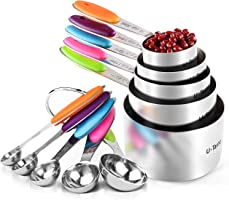 U-Taste 18/8 Stainless Steel Measuring Cups and Spoons Set of 10 with Upgraded Thick Handle: 5 Measuring Cups & 5...