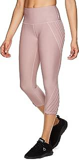 Active Women's Solid Running Workout Capri Length Yoga Leggings