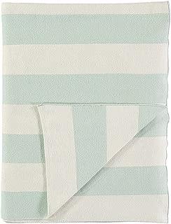 Meri Meri Mint & Ivory Stripe Knitted Blanket