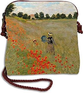 - 12x10 cm Les Coquelicots - Porte-Monnaie Artisanal Claude Monet Q6649 Les Tr/ésors De Lily