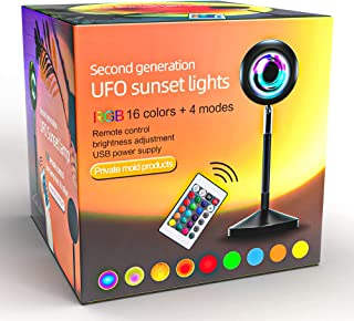Sunset Lamp | Sunset Projection Lamp | Sunset Light Projector with 24Keys Remote Multiple Colors | RGB LED Night Light for...