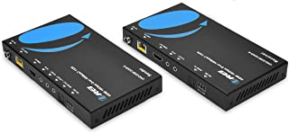 4K HDMI Extender Balun by OREI - HDBaseT UltraHD 4K @ 60Hz 4:4:4 Over Single CAT5e/6/7 Cable with HDR, ARC, CEC & IR Support, RS-232 - Up to 130 Ft @ 4K - 230 Ft @ 1080P - Power Over Cable - Audio Out