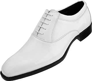 Amali The Original Men's Patent High Shine Faux Leather Lace Up Oxford Dress Shoe, Style Classiko