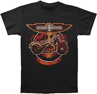 Men's Motorcycle Tour 1987 Mens Soft T Slim Fit T-Shirt Black