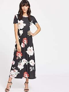 Opaque Floral Maxi Dress