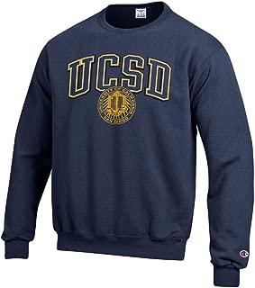 U.C. San Diego Tritons Block & Seal Crew-Neck Sweatshirt-Navy