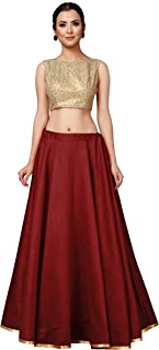 STUDIO Shringaar Women's Full Flare Full Volume Full Round Circle Skirt Lehenga