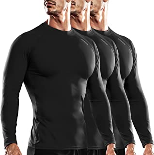 DRSKIN 1~3 Pack Men's Long Sleeve Compression Shirts Top Sports Workout Athletic Base Layer Dry Thermal Winter