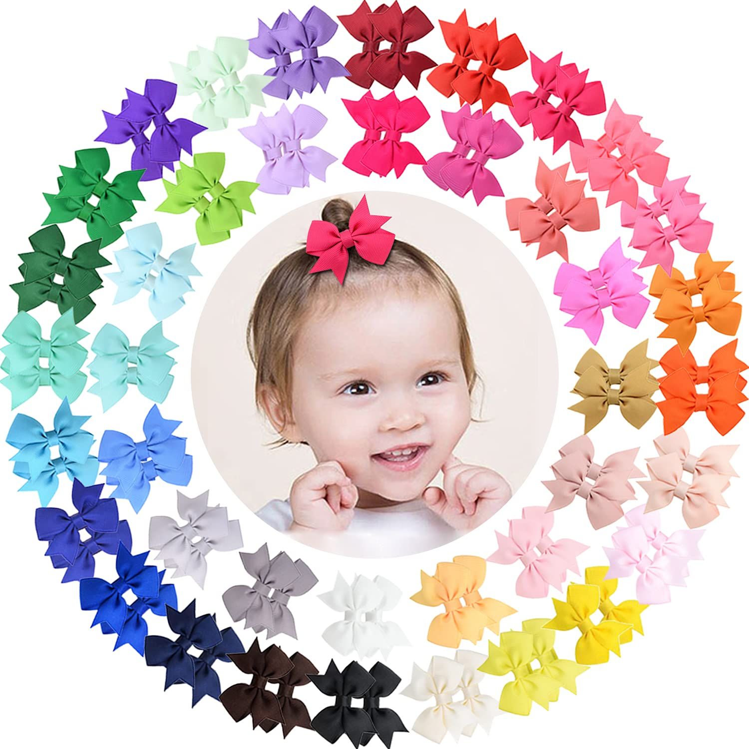 ALinmo 80pcs Baby Girls security Clips 2