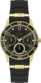Guess Womens Quartz Watch, Analog Display and Silicone Strap W1157L1