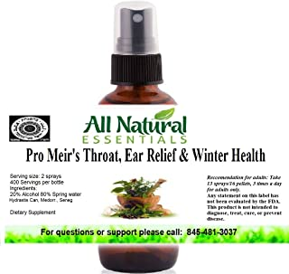 Throat Ear Relief Winter Health Pro Meir's 2oz Homeopathic Remedy Cold Care Soothe Sore Throat Cough Cold Stuffy Nose Immu...