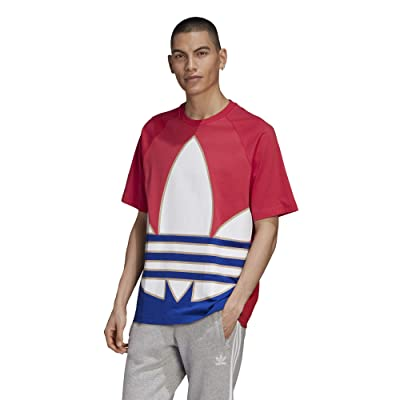 adidas Originals Big Trefoil Out Color Tee (Power Pink/White/Team Royal Blue/Trace Khaki) Men