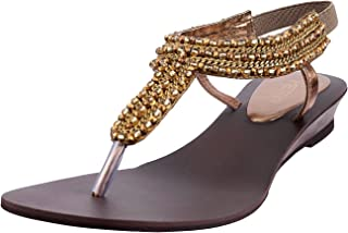 Metro Women's Antic Gold Fashion Sandals-6 UK/India (39 EU) (33-8762-28-39)