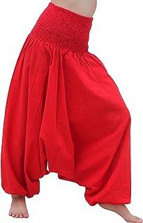 RaanPahMuang Brand Light Summer Cotton Smock Top Harem Aladdin Pants