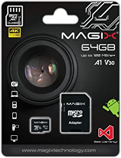 Micro SD Card MAGIX 4K Series Class10 V30 + SD Adapter UP to 100MB/s (64GB)