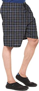 EASY 2 WEAR ® Men Elasticated Cotton Checks Shorts (Size S to 4XL) Comfort FIT and Plus Sizes