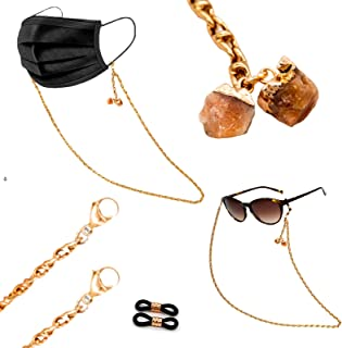 F&F FUNCTION & FOLLY 3-in-1 Face Mask & Gl Lanyard for Women - Durable Jewelry Grade Gl Chain, Finishings and Converters