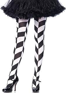 Leg Avenue LEG AVENUE 7950 - Chevron illusion pantyhose, Einheitsgröße Schwarz-Weiß