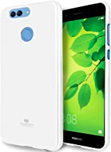 GOOSPERY Pearl Jelly for Huawei Nova 2 Plus Case with Screen Protector Slim Thin Rubber Case (White) HWNV2P-JEL/SP-WHT