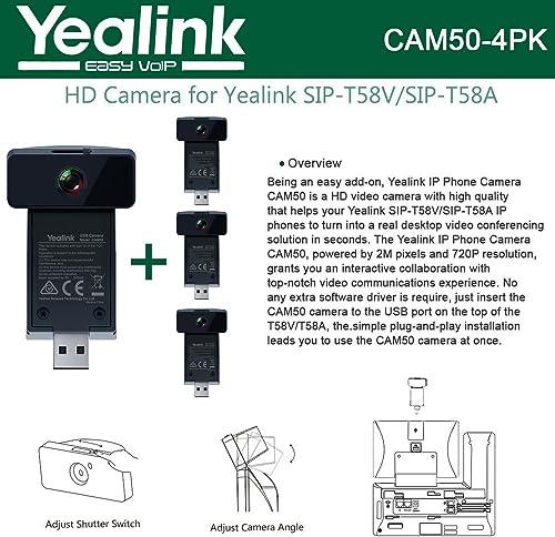 Yealink CAM50 4-UNITS HD Camera for SIP-T58V / SIP-T58A 2 mega-pixel