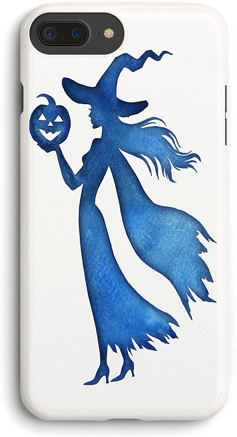 Witch with Halloween Pumpkin iPhone 7PLUS /8 Plus Case White,PC Hard Case for iPhone 7PLUS /8 Plus