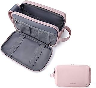 Toiletry Bag for Women, BAGSMART Travel Toiletry Organizer Dopp Kit Water-resistant Shaving Bag for Toiletries Accessorie...