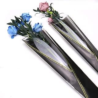 JETEHO Pack of 100 Flower Gift Bag Single Rose Packaging Bags