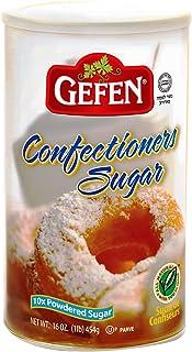 Sponsored Ad - Gefen Confectioners Sugar, 16oz, Resealable Container, 10x Powdered Sugar 1lb, Premium Confection Sugar, No...