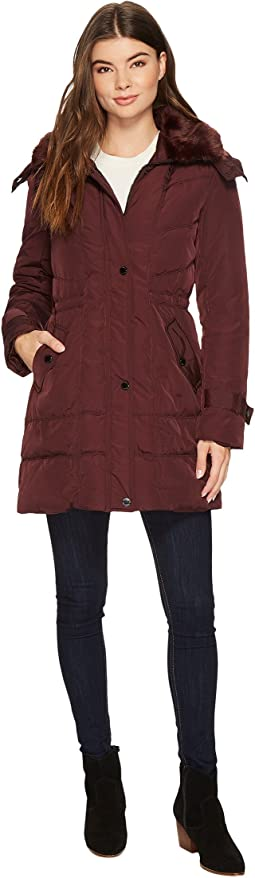 Oxford Hooded Anorak w/ Removable Faux Fur Collar