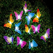LEDMOMO Led Solar String Light Multi Color Butterfly Fairy Lights Waterproof Outdoor Light Home Garden Patio Lawn Party De...