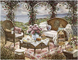 Global Gallery Janet Kruskamp Afternoon Tea-Giclee on Paper Print-Unframed-18 x 24 in Image Size, 18