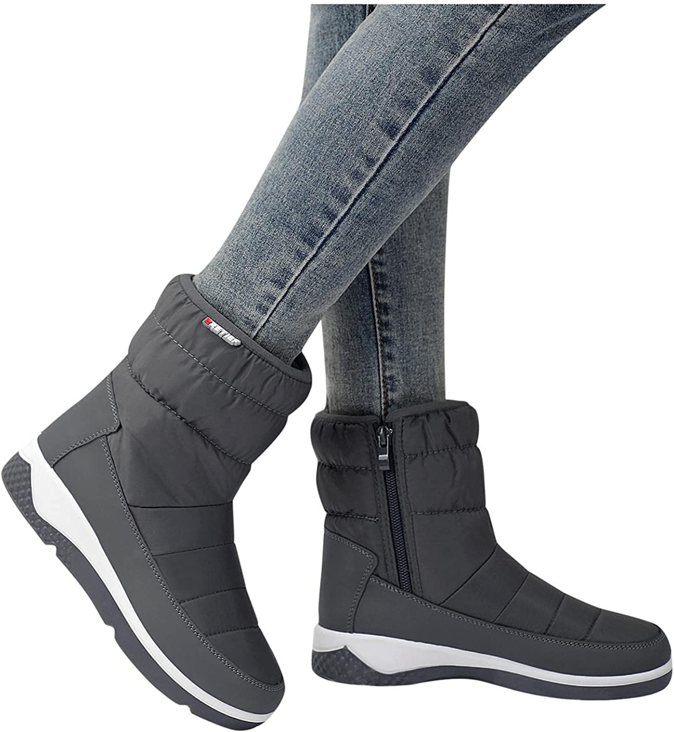 AODONG Winter Boots for Women,Winter Waterproof Ankle Bootie Ant