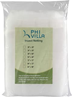 PHI VILLA Tree Bag Netting - Insect/Bird Netting - Tree Cover with Zipper Closures 72