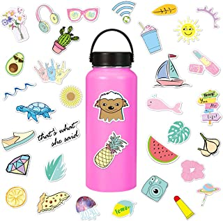 Stickers for Water Bottles Waterproof Cute Vinyl Stickers Laptop Luggage Stickers Skateboard Guitar Travel Case Graffiti Sticker Motorcycle Stickers Teens Girls Boys (35 pcs)