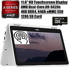 "Dell Inspiron 11 3000 2 in 1 Laptop 2020 Premium I 11.6"" HD Touchscreen I AMD A9-9420e I 4GB DDR4 64GB eMMC 128G SD Card I..."