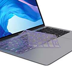 Kuzy - MacBook Air Keyboard Cover, 13 inch 2019 2018 New A1932 with Touch ID and Retina Display Premium Ultra Thin TPU Protective Skin Protector - Purple