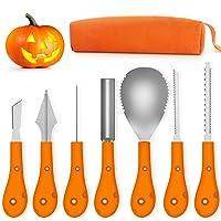 Greatever Halloween Pumpkin Carving Kit w/Carrying Case 7pcs Deals