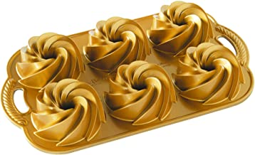 Nordic Ware 88077 Heritage Bundtlette Cakes, One Size, Gold