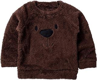 Carolilly - Jersey de terciopelo para bebé, cálido, de invierno, con estampado de oso