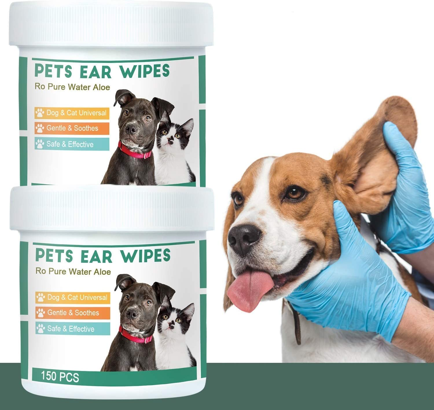 QUTOP 300 Pcs store Dog Ear Cleaner Wipes Wi NEW before selling ☆ Cleansing Pre-moistened -